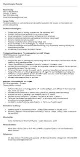 Sample Resume For Physical Therapist by Physical Therapy Assistant Resume Templates New Graduatejpg