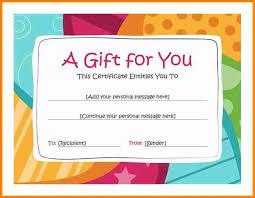 6 free gift certificates budget templatebirthday gift