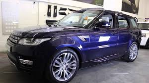 land rover purple 2014 14 range rover sport hse finished in loire blue youtube