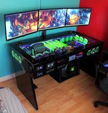 Gaming Desk by Desk Gaming Desk Ikea In Great Gaming Desk Ikea Stun Posts Dark