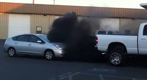 dodge ram smoke stacks area in large dodge truck feels no need to yield