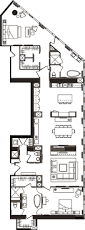 Two Bedroom Floor Plans Two Bedroom Floor Plan A Mandarin Oriental Las Vegas Citycenter