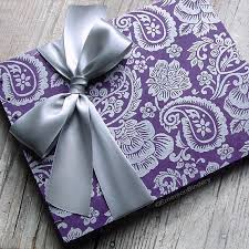 purple guest book purple wedding guest book guest book indian guest