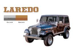 jeep laredo amazon com 1985 1986 jeep laredo cj7 decals u0026 stripes kit