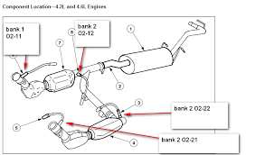 2001 ford f150 oxygen sensor location i a 1198 ford f150 with a 4 6 i keep getting a check engine