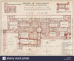 houses of parliament palace of westminster vintage map plan