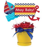 Nautical Baby Shower Decorations - ahoy nautical baby shower party supplies party city