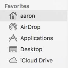 macos sierra home folder capitalization apple