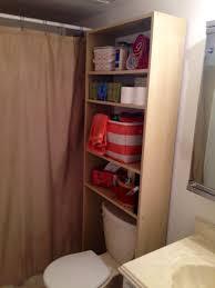 Bathroom Under Sink Storage Ideas Bathroom Cheap Bathroom Storage Design With Over The Toilet