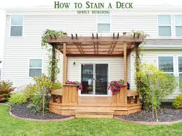How To Build A Awning Over A Deck How To Stain A Deck And Pergola