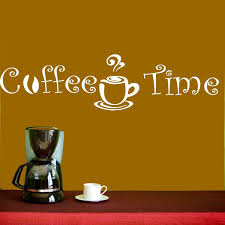 wall decal vinyl sticker coffee shop cafe kitchen quote coffee wall decal vinyl sticker coffee shop cafe kitchen quote coffee time cup beans decal decoration designer wall stickers dinosaur wall decals from flylife