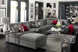 bassett furniture gray living room white walls dark trim