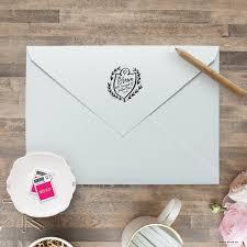 return address stamp self inking wedding invitation stamp