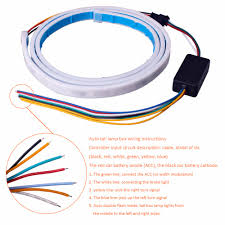 connecting led light strips 47inch car styling turn signal strip led trunk tailgate light