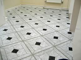 Viynl Floor Tiles 50 Vinyl Floor Tiles Black White Diamond Self Stick Peel U0026 Stick