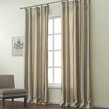 Curtains One Panel Or Two Twopages Classic Jacquard Stripe Cotton Linen Blend Double Pleated