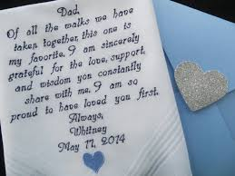 wedding gift letter wedding handkerchief for embroidered wedding gift you
