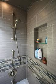 best 25 modern shower ideas on pinterest modern bathrooms classic home decor ideas contemporary full bathroom with recessed shower niche ceramic shower tile handheld showerhead