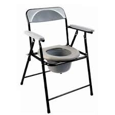 folding lightweight commode chair with top loading easily
