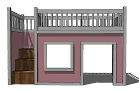 Plans For Loft Beds Free by Ana White Storage Stairs For The Playhouse Loft Bed Diy Projects