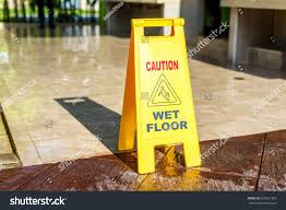 Wet Floor Images by Sign Showing Warning Caution Wet Floor Stock Photo 520621303