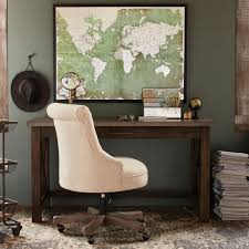 Lydia Black Leather Chrome Chairs Natural Elsie Upholstered Office Chair World Market