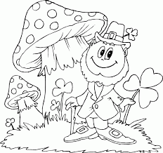 guy with mushrooms coloring pages printable