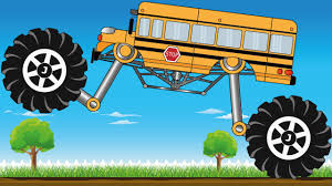monster jam trucks videos spider bus monster truck save red car kids videos