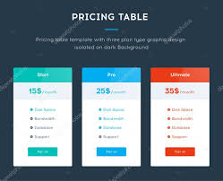 pricing table template u2014 stock vector denvitruk 90647822