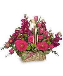 basket arrangements missing you bunches flower basket basket arrangements flower