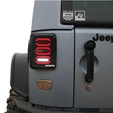 jeep jk led tail light bulb amazon com safaripal led tail lights for jeep wrangler jk brake