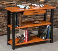 end table with locking drawer bookshelf table with drawer cherry caretta workspace