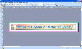 cara membuat x banner dengan publisher make a dream and make it real cara membuat banner melalui microsoft
