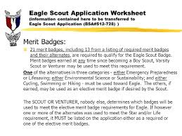 cooking merit badge worksheet answers eagle scout application ppt download