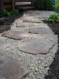 outstanding stone landscaping ideas with landscaping i did diy use edging to contain small river rocks