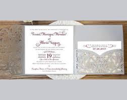 Wedding Invitation Pocket Gorgeous Laser Cut Wedding Invitations Pocket Wedding