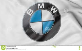 bmw logo close up of waving flag with bmw logo 3d rendering editorial
