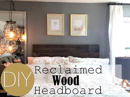 Reclaimed Wood Home Decor Diy Reclaimed Wood Headboard Small Apartment Decorating Live