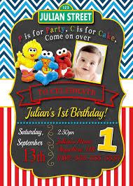 sesame street 1st birthday invitations marialonghi com