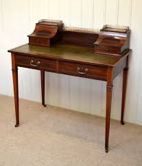 antique ladies writing desk mahogany inlaid writing desk england c 1900 la46186