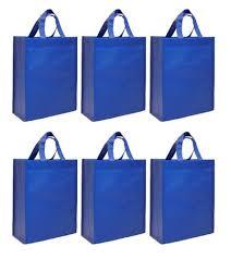 blue gift bags cyma reusable gift bags medium 6 bag set cyma bags
