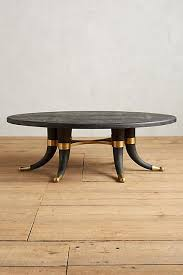 Brass Coffee Table Legs Wooden Tusk Legs Brass Accents Coffee Table