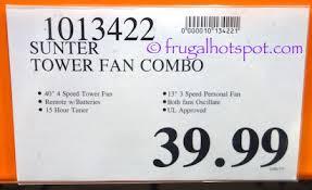 sunter tower fan costco costco sale sunter tower fan combo 29 99 frugal hotspot