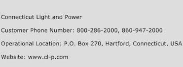connecticut light power connecticut light and power customer service phone number contact