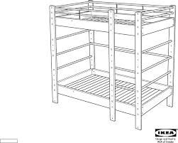 Ikea Malm Bed Frame Instructions Download Ikea Lo Bunk Bed Frame Twin Assembly Instruction For Free