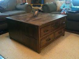 living room large square coffee table with drawers amazing