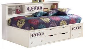 Full Bookcase Zayley Full Bookcase Bed In White By Bedroom Furniture Discounts