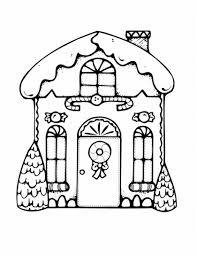 cute gingerbread christmas house black white colour