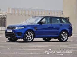 blue land rover 2016 land rover range rover sport svr drive arabia
