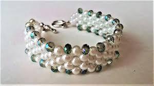 pearl beads bracelet images Elegant evening beaded bracelet diy beaded jewelry pearls and jpg